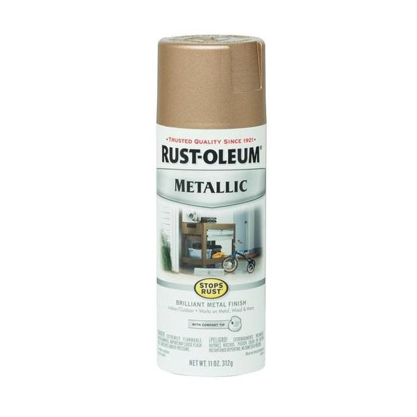 Rust-Oleum Stops Rust Metallic Aerosol Spray Paint - Dark Copper - 312 Grams
