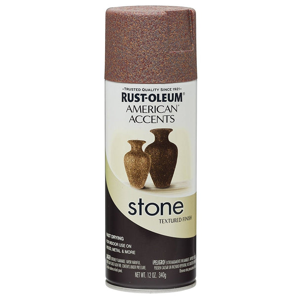Rust-Oleum American Accents Stone Textured Spray Paint - Slate - 340 Grams