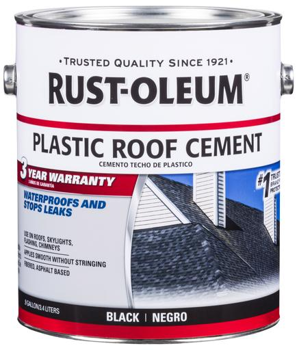Rust-Oleum Roofing Plastic Roof Cement - 3.4 Liters