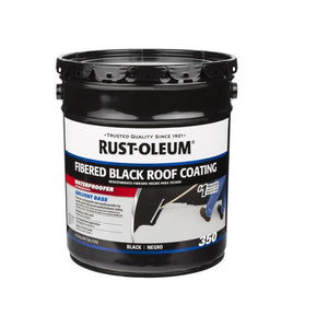 Rust-Oleum 350 Fibered Black Roof Coating Paint