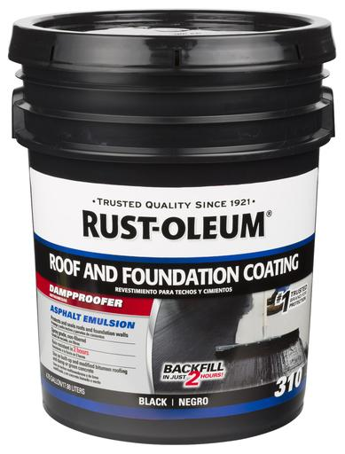 Rust-Oleum 310 Roof and Foundation Damp Proof Coating - 18 Ltr.