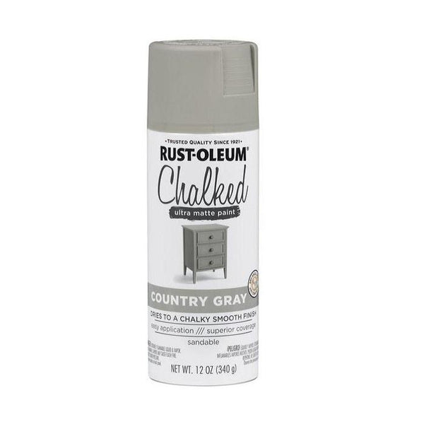 Rust-Oleum Specialty Chalked Spray Paint - Ultra Matte Finish - Aged Gray - 340 Grams