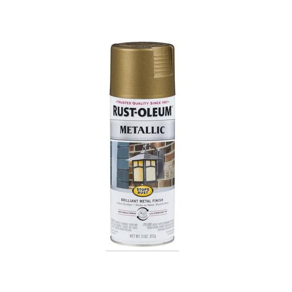 Rust-Oleum Stops Rust Metallic Aerosol Spray Paint - Warm Gold - 312 Grams