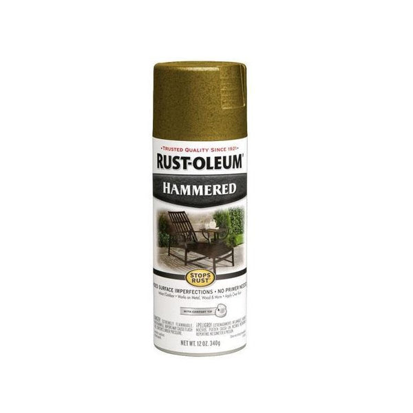 Rust-Oleum Stops Rust Hammered Metal Finish Aerosol Spray Paint - Ivory - 340 Grams