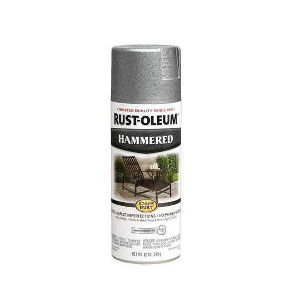 Rust-Oleum Stops Rust Hammered Metal Finish Aerosol Spray Paint - Light Blue - 340 Grams