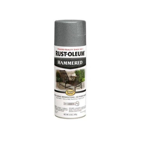 Rust-Oleum Stops Rust Hammered Metal Finish Aerosol Spray Paint - Silver - 340 Grams