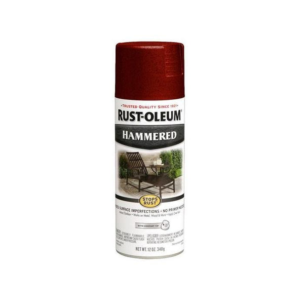 Rust-Oleum Stops Rust Hammered Metal Finish Aerosol Spray Paint - Black - 340 Grams