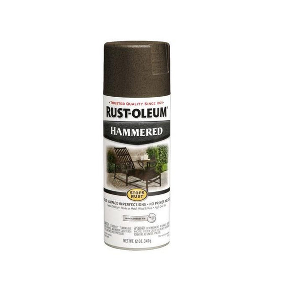 Rust-Oleum Stops Rust Hammered Metal Finish Aerosol Spray Paint - Bright Red - 340 Grams