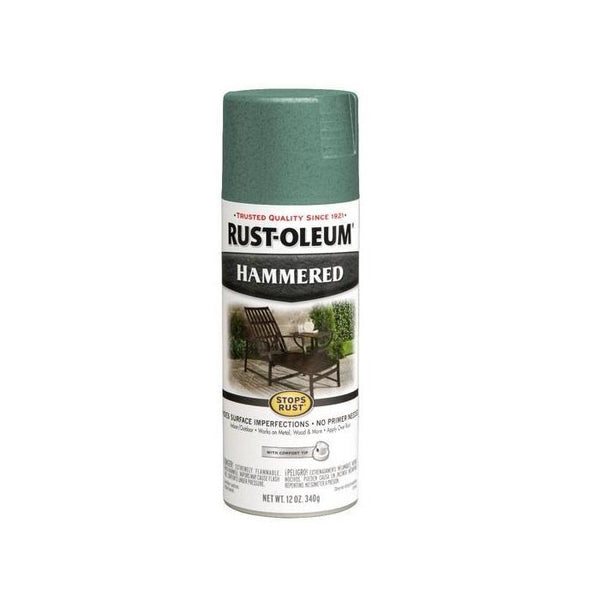 Rust-Oleum Stops Rust Hammered Metal Finish Aerosol Spray Paint - Verde Green - 340 Grams