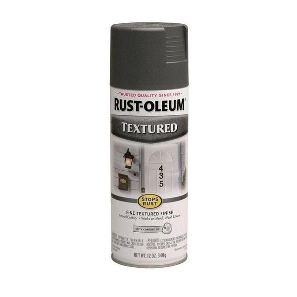 Rust-Oleum Stops Rust Textured Spray Paint - Black - 340 Grams
