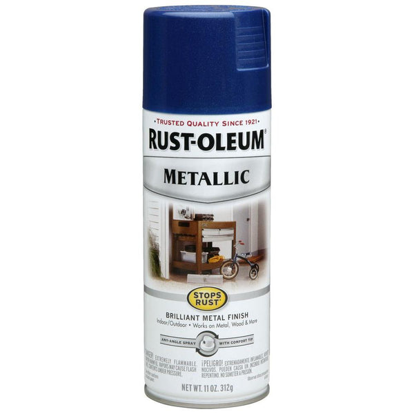 Rust-Oleum Stops Rust Metallic Aerosol Spray Paint - Cobalt Blue - 312 Grams
