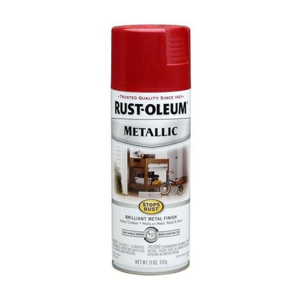 Rust-Oleum Stops Rust Metallic Aerosol Spray Paint - Racing Green - 312 Grams
