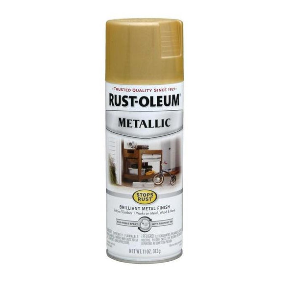 Rust-Oleum Stops Rust Metallic Aerosol Spray Paint - Apple Red - 312 Grams