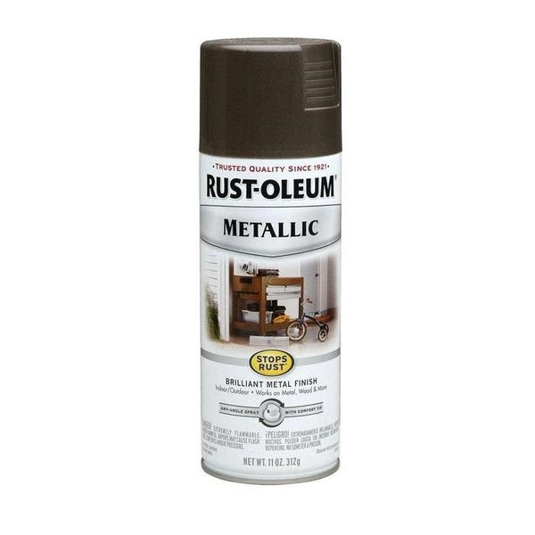 Rust-Oleum Stops Rust Metallic Aerosol Spray Paint - Silver - 312 Grams