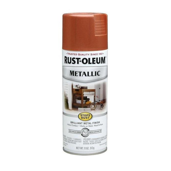 Rust-Oleum Stops Rust Metallic Aerosol Spray Paint - Dark Bronze - 312 Grams