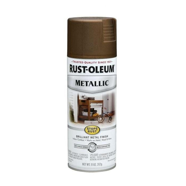 Rust-Oleum Stops Rust Metallic Aerosol Spray Paint - Copper - 312 Grams