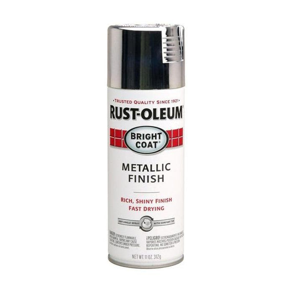 Rust-Oleum Stops Rust Bright Coat Metallic Spray Paint - Gloss Chrome- 312 Grams