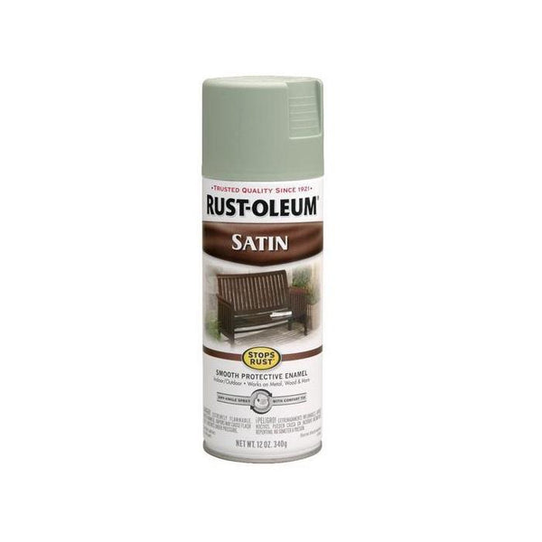 Rust-Oleum Stops Rust Satin Enamel Spray Paint - Cabernet - 340 Grams