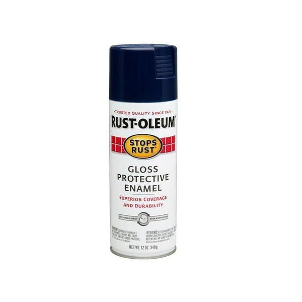 Rust-Oleum Stops Rust Enamel Touch Up Spray Paint - Gloss Harbor Blue - 340 Grams
