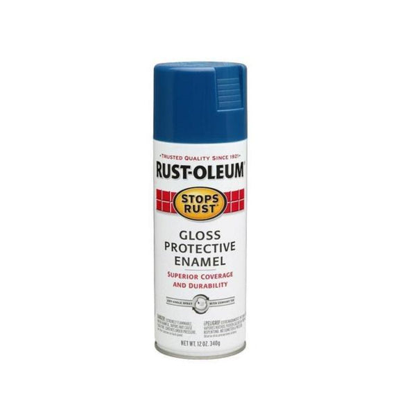 Rust-Oleum Stops Rust Enamel Touch Up Spray Paint - Gloss Sail Blue - 340 Grams