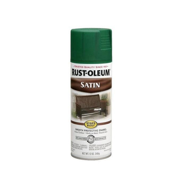 Rust-Oleum Stops Rust Satin Enamel Spray Paint - Sage - 340 Grams