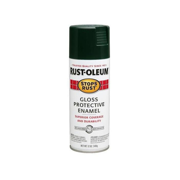 Rust-Oleum Stops Rust Enamel Touch Up Spray Paint - Gloss Grass Green - 340 Grams