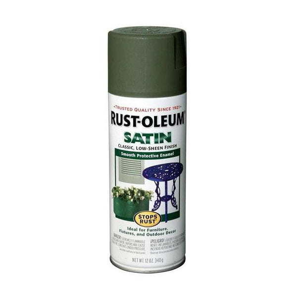 Rust-Oleum Stops Rust Satin Enamel Spray Paint - Hunter Green - 340 Grams
