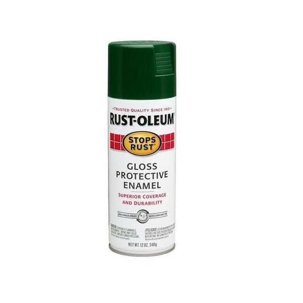 Rust-Oleum Stops Rust Enamel Touch Up Spray Paint - Gloss Hunter Green - 340 Grams