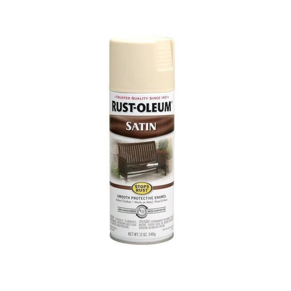 Rust-Oleum Stops Rust Satin Enamel Spray Paint - Dark Hunter Green - 340 Grams