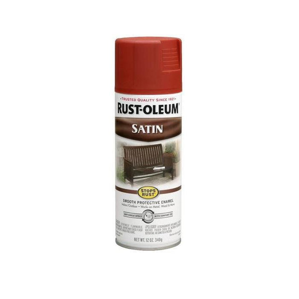 Rust-Oleum Stops Rust Satin Enamel Spray Paint - Almond - 340 Grams
