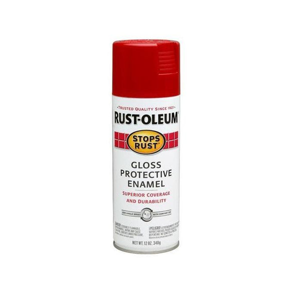 Rust-Oleum Stops Rust Enamel Touch Up Spray Paint - Gloss Sunrise Red - 340 Grams