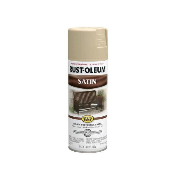 Rust-Oleum Stops Rust Satin Enamel Spray Paint - Redwood - 340 Grams