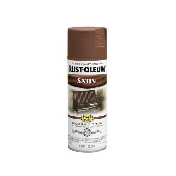 Rust-Oleum Stops Rust Satin Enamel Spray Paint - Putty - 340 Grams