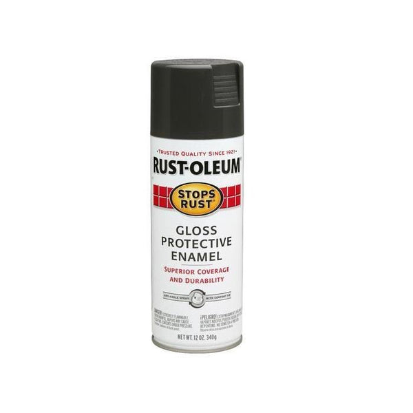 Rust-Oleum Stops Rust Enamel Touch Up Spray Paint - Gloss Pewter Gray - 340 Grams