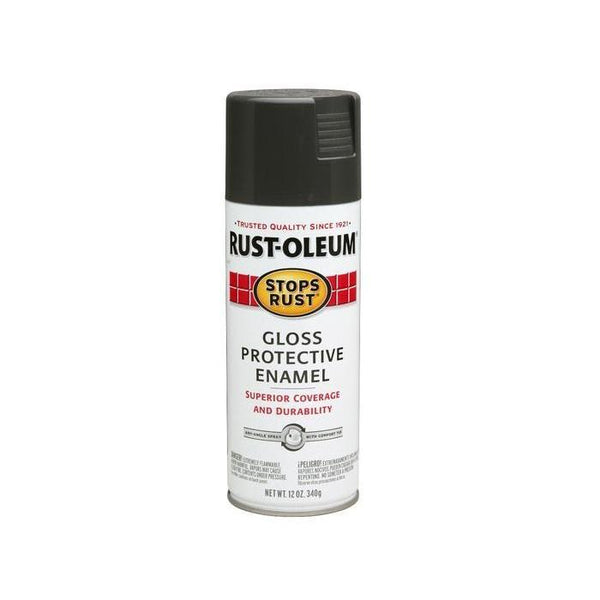 Rust-Oleum Stops Rust Enamel Touch Up Spray Paint - Gloss Charcoal Gray - 340 Grams