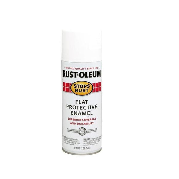 Rust-Oleum Stops Rust Enamel Touch Up Spray Paint - Gloss Canvas White - 340 Grams