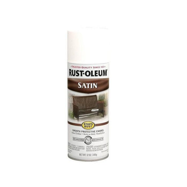 Rust-Oleum Stops Rust Satin Enamel Spray Paint - Black - 340 Grams