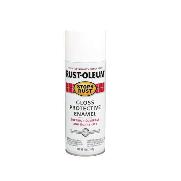 Rust-Oleum Stops Rust Enamel Touch Up Spray Paint - Flat White - 340 Grams