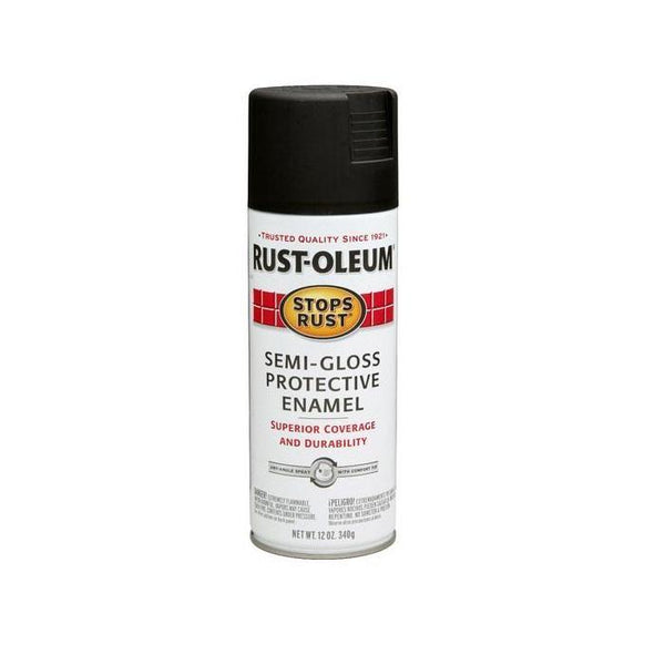 Rust-Oleum Stops Rust Enamel Touch Up Spray Paint - Semi-Gloss White - 340 Grams