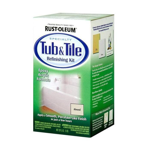 Rust-Oleum Tub and Tile Paint (Refreshing Kit) | Bathroom Tile Paint - Almond