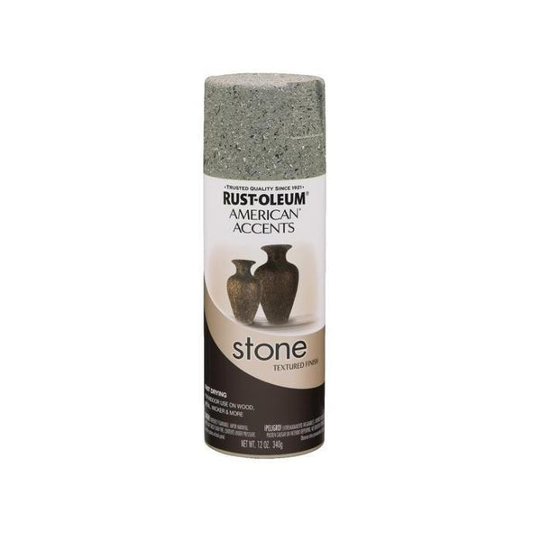 Rust-Oleum American Accents Stone Textured Spray Paint - Black Granite - 340 Grams