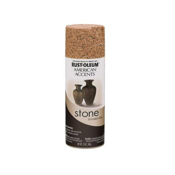 Rust-Oleum American Accents Stone Textured Spray Paint - Gray Stone - 340 Grams