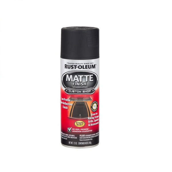 Rust-Oleum Automotive Matte Black Spray Paint for Motorcycle and Car