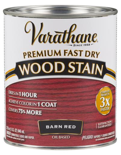 Rust-Oleum Varathane Premium Fast Dry Wood Stains- Barn Red - 946 Ml