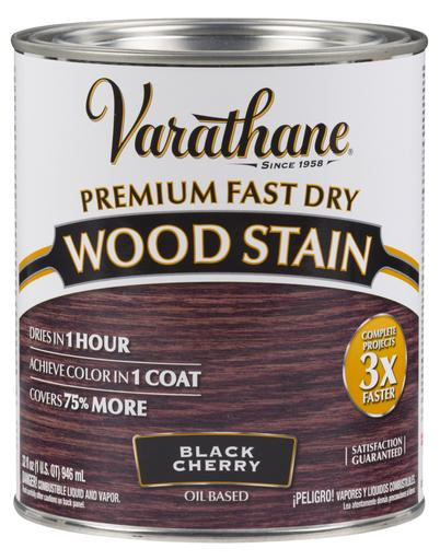 Rust-Oleum Varathan Premium Fast Dry Wood Stains - Black Cherry - 946 Ml