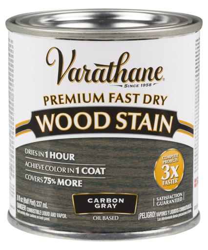 Rust-Oleum Varathane Premium Fast Dry Wood Stains- Carbon Gray - 236 Ml