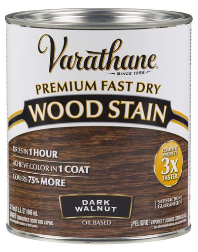 Rust-Oleum Varathan Premium Fast Dry Wood Stains - Dark Walnut - 946 Ml