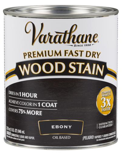 Rust-Oleum Varathan Premium Fast Dry Wood Stains - Ebony - 946 Ml