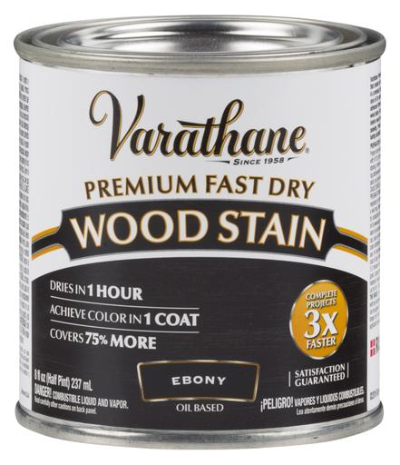 Rust-Oleum Varathan Premium Fast Dry Wood Stains - Ebony - 236 Ml