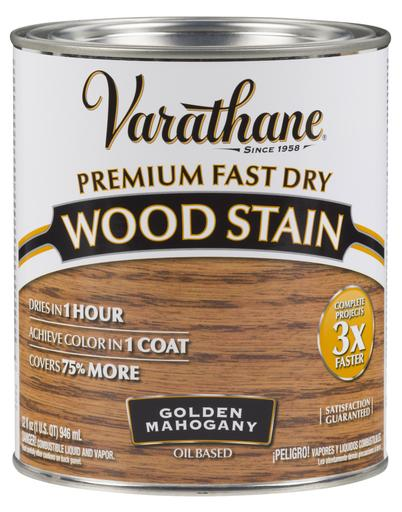 Rust-Oleum Varathane Premium Fast Dry Wood Stains - Golden Mahogany - 946 Ml